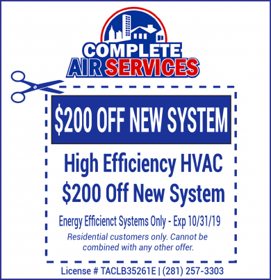 New HVAC System Coupon