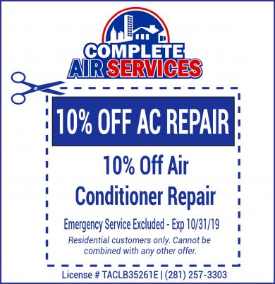 Air Conditioner Repair Coupon