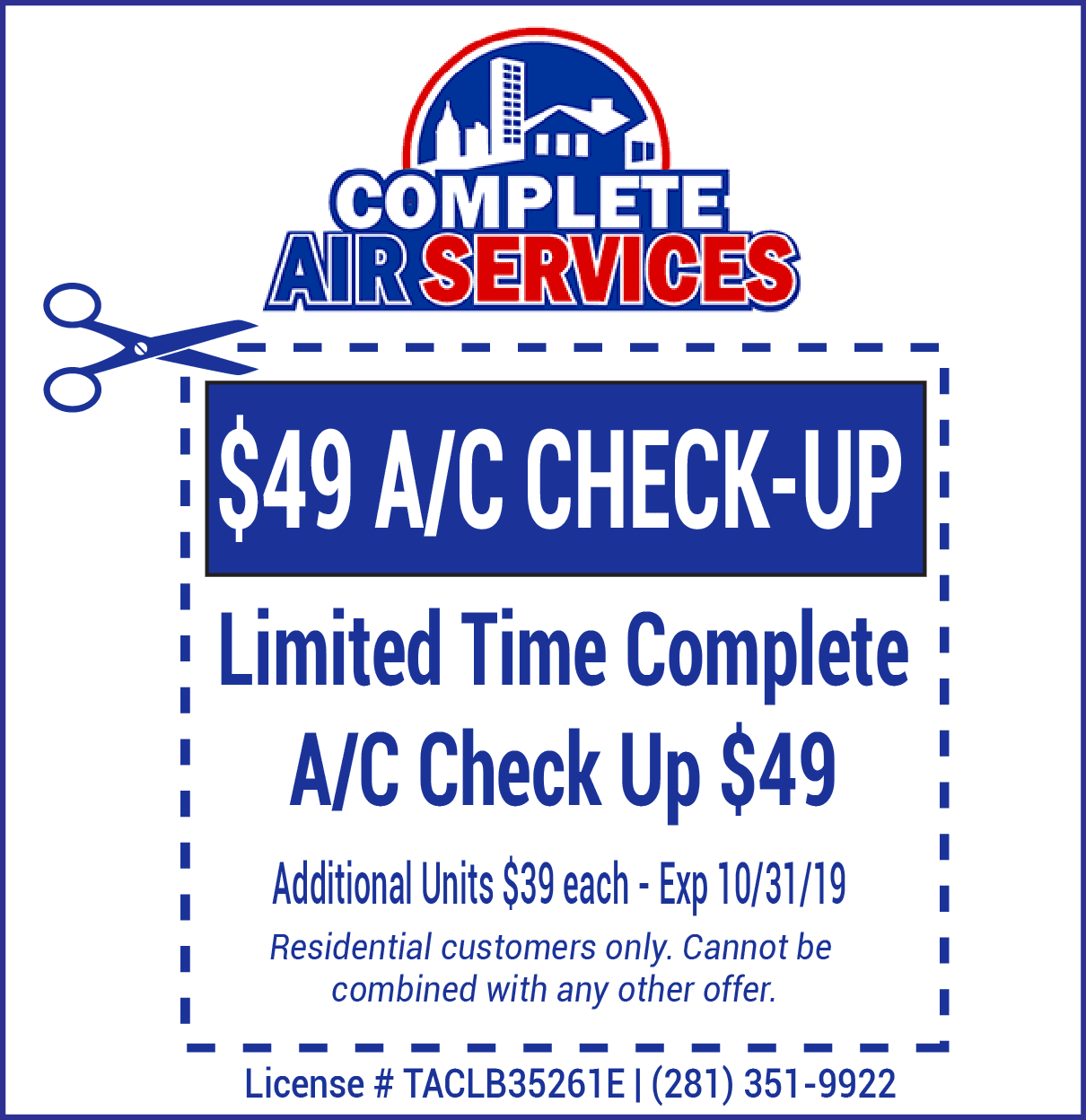 AC Check Up Coupon